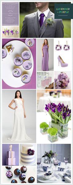 Purple + Lavender wedding inspiration