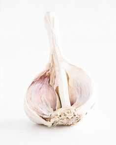 Garlic Photograph Food Photography Wall Art by AmyRothPhoto - High Key Photography, Food Photography, Kitchen Wall Art, Kitchen Decor, Garlic Pasta, Garlic Soup, Garlic Noodles, Garlic Chicken, Roasted Garlic