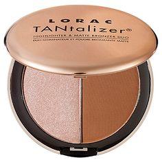 LORAC TANtalizer® Highlighter & Matte Bronzer Duo: Bronzer | Sephora
