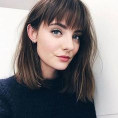 Shoulder Length Hairstyles with Bangs