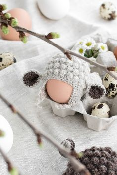 Freshly fortified and detached from the breakfast table, I richly saturated the crochet-supply of fluffy sheep as egg warmer after. Crochet Egg Cozy, Crochet Sheep, Easter Crochet, Crochet Bookmark Pattern, Crochet Bookmarks, Knitting Patterns, Crochet Patterns, Yarn Organization, Crochet Supplies