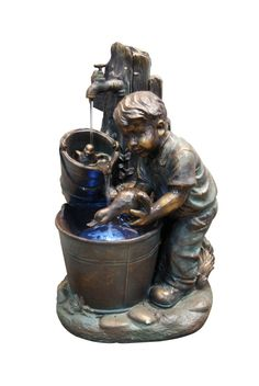 "Item# GXT476, This Boy Washing Duck in Bucket Fountain is a classy way to add a water feature to any indoor/ outdoor environment. This bronze finish fountain would accent any indoor area or any garden or patio area. Statue has  LED lighting. Made of Fiberglass and Resin. Pump, LED Lights and all necessary parts included for easy assembly and operation. Dimensions: 17"" L x 14"" W x 27"" H, Weight: 20.11lbs, 1 Year Limited Warranty, Orig. Price: $309.98, Sale Price: $253.15"