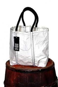 Rogues Gallery Marine tote, made from recycled sail and crafted by hand in Portland, Maine.