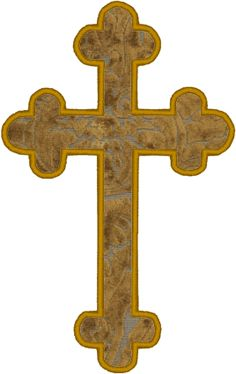 Budded Cross Applique Embroidery Design