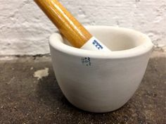 vintage Coors USA porcelain mortar and pestle by LiminalCollective