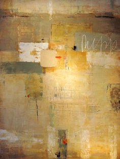 "Jean Geraci,   'Apps'    Mixed media on canvas  60"" x 40"""