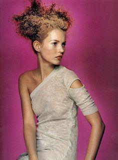 Kate Moss in Helmut Lang, Harper's Bazaar, November 1996