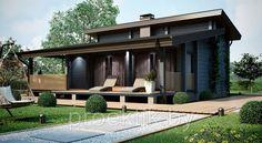 Одноэтажный одноквартирный жилой дом с навесом и террасой, фото 1