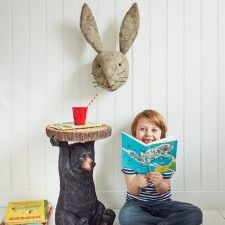 Graham Green Grey Hare Animal Head And Don T Forget The Bear Table Hare Animalgreen Kids Roomsanimal Headsgifts For