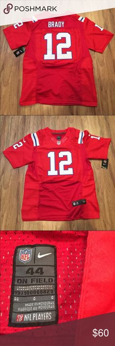 Patriots Football Jersey NEW Tom Brady sz L (44) New with tags. Men's size Large (44). Nike On Field stitched numbers and letters. Next day shipping Nike Shirts