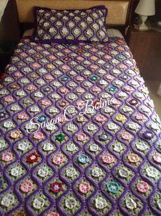 Love Crochet, Crochet Flowers, Knit Crochet, Crochet Tops, Crotchet Blanket, Crochet Bedspread Pattern, Afghan Blanket, Afghan Crochet Patterns, Bed Spreads