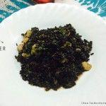 Riso Venere con zucchine e code di gamberi