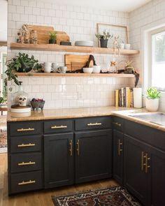 Home Decor Kitchen, Interior Design Kitchen, New Kitchen, Kitchen Dining, Kitchen Ideas, Country Kitchen, Awesome Kitchen, Kitchen Modern, Apartment Kitchen