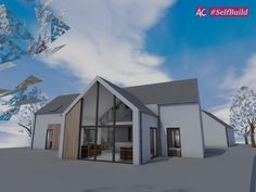 Low Energy Sips House In Scotlandwell, Perth And Kinross. 3D Modelling Software.