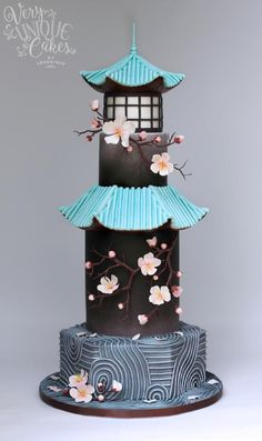Sakura Zen - Cake by Very Unique Cakes by Veronique