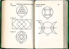 spread from Mathematical Puzzles and Pastimes by Aaron Bakst, D. Van Norstrand, NY, 1954