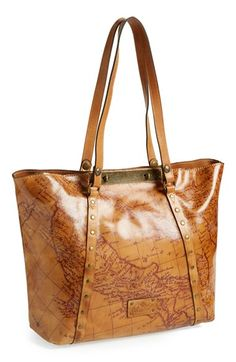 'Benvenuto' leather map tote