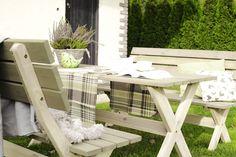 Zestaw BBKD stół i 2 ławki, meble ogrodowe drewniane, 499 zł Outdoor Furniture Sets, Outdoor Decor, Picnic Table, Home Decor, Decoration Home, Room Decor, Home Interior Design, Picnic Tables, Home Decoration
