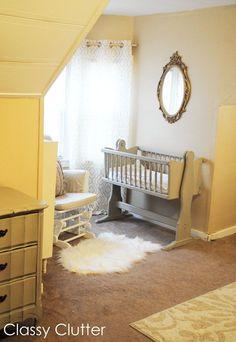 Babys Mini Nursery Nook (in our Master Bedroom Nursery Nook, Bedroom Nook, Accent Wall Bedroom, Bedroom Plants, Master Bedroom, Bedroom Curtains, Bedroom Ideas, Bedroom Decor, Bed Room