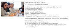 Palveluitamme esimiestyön kehittämiseen Leadership Assessment, Leadership Development, Training Programs, Life Skills, Online Courses, Coaching, Management, Business
