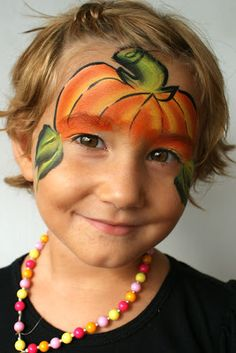 Pretty Scary Halloween Pumpkin Makeup Ideas - chic better Are you looking for a DIY Halloween costume? Need some ideas on what to do for your costume? Check out these DIY Halloween Makeup Looks. Pumpkin Face Paint, Pumpkin Faces, Cute Pumpkin, Pumpkin Painting, Pumpkin Ideas, Pumpkin Carving, Pumpkin Decorations, Skull Pumpkin, Pumpkin Canvas