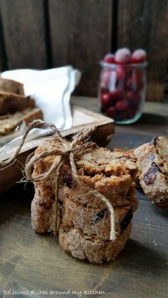Walnuss- Cantuccini mit Cranberries