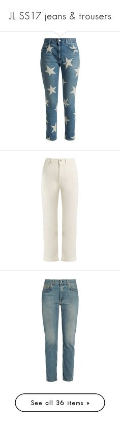 """""""JL SS17 jeans & trousers"""" by leesawhisker ❤ liked on Polyvore featuring jeans, pants, light denim, denim skinny jeans, slim skinny jeans, big-star skinny jeans, skinny jeans, mid-rise jeans, white and high rise white jeans"""