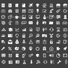 100 Office Vector Icons — Vector EPS #office #workers • Available here → https://graphicriver.net/item/100-office-vector-icons-/11735390?ref=pxcr