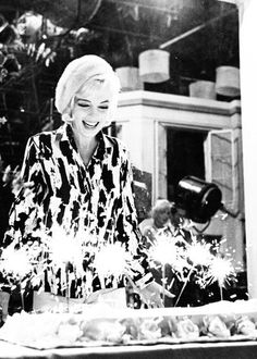Marilyn photographed on her last birthday by Lawrence Schille, 1962.