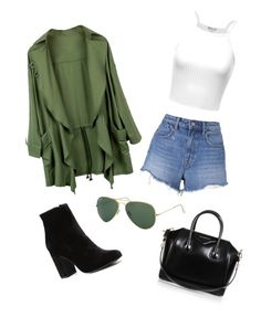 """""""Street Style"""" by annaaav ❤ liked on Polyvore featuring T By Alexander Wang, Witchery, Givenchy, Ray-Ban, GetTheLook, StreetStyle and fashionset"""