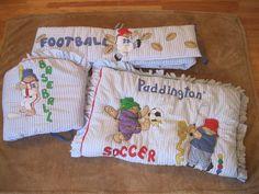 Paddington Bear Crib Bedding Unisex Reversible Striped Sports Comforter Bumper  #NoJo
