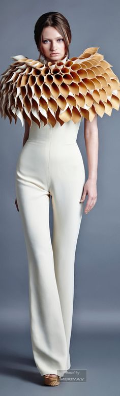 Jean Louis Sabaji .2014. women fashion outfit clothing style apparel @roressclothes closet ideas
