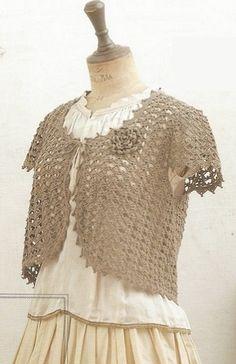 Bolero de ganchillo, in Russian but crochet is charted.