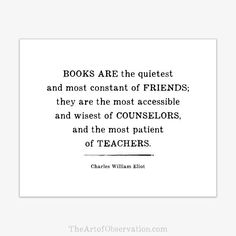 Reading Quote Print, Typography, Inspirational Books #ad