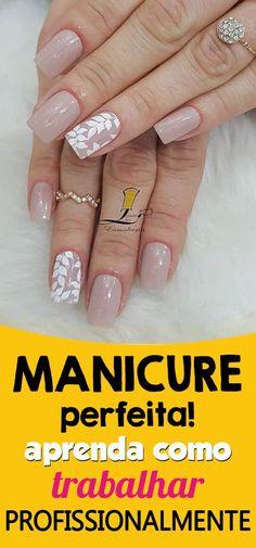 ■ Aprenda todas as técnicas profissionais de manicure para fazer unhas perfeitas em casa, podendo trabalhar como manicure de forma especializada. CLIQUE NO PIN e saiba mais. Unha nude, unhas delicadas nude, unhas delicadas francesinha, unhas delicadas passo a passo, unhas delicadas curta, unhas delicadas noiva, unhas delicadas decoradas #unhasbonitas #unhasbonitasdelicadas #manicureprofissional #manicureemcasa #unhasbonitaspassoapasso #passoapasso #façavocemesma #unhasdelicadas… Toe Nail Art, Toe Nails, Pink Nails, Acrylic Nails, French Manicure Nails, French Nails, Nail Drawing, Nail Designer, Bride Nails
