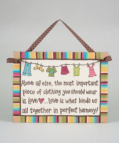 Take a look at this 'Love Is' Plaque by Glory Haus on #zulily today!