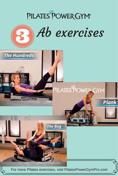 Get your abs ready for bikini season with these great Pilates exercises on the Pilates Power Gym reformer