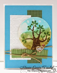 A La Pause: Une Carte Qui Respire: Fou de Toi - Nuts About You, Stampin' Up!, SU, Marie-Josée Trudel, cartes, cards, Mojo Monday 354, MOJO354
