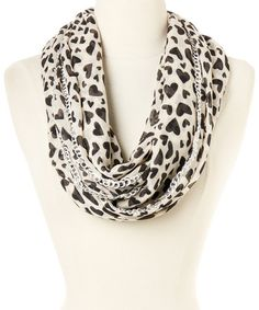 Love this Ivy Chain Link Animal Heart Infinity Scarf by Betsey Johnson on #zulily! #zulilyfinds