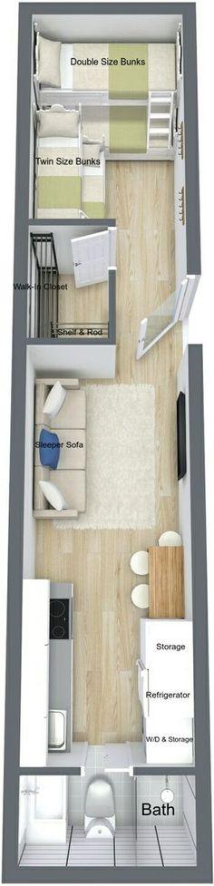 Casa container com camas beliches