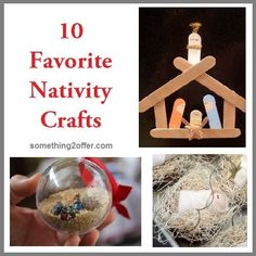 The popsicle stick nativity scene is cute! Maybe just for your kids or for the S boys too?