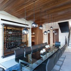Touzet Studio Wine Cellar (Robin Hill), vin de garde modern wine cellar, wine cellar, modern space, interior design, www.vindegarde.ca Wine Cellar Design, Woodworking Industry, Different Wines, Wine Storage, Wine Drinks, Bathroom Accessories, Modern Architecture, Wine Rack, Wall Mount