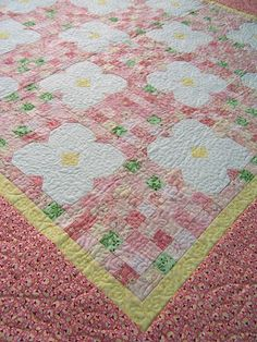 Dorky Homemade Quilts: Puakenikeni Baby Quilt  Pattern printed
