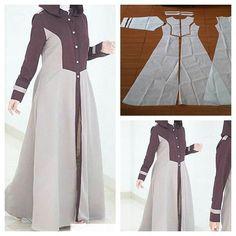 New dress pattern sewing women tutorials Ideas Batik Fashion, Abaya Fashion, Fashion Sewing, Muslim Fashion, Diy Fashion, Long Dress Patterns, New Dress Pattern, Dress Sewing Patterns, Clothing Patterns