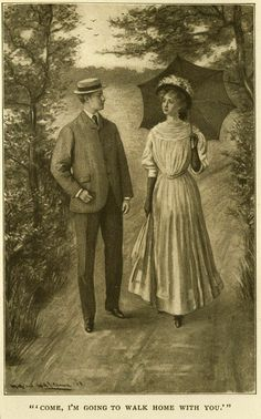 Anne of Green Gables book illustration. Anne and Gilbert