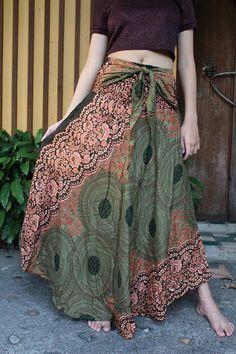 Flower Bohemian Skirt Gypsy hippie style bloom One Size Fits
