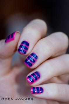 Marc Jacobs RE 2013 inspired nail art! via Cosmeto & Co