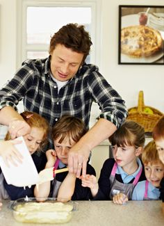 Jamie Oliver's Kitchen Garden Project providing children with the skills they need to prepare meals from scratch and the knowledge to make better food choices for themselves and their future families.