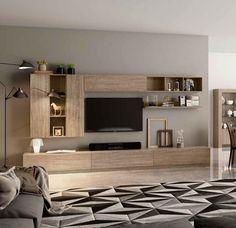 Living Room Wall Units, Living Room Tv Unit Designs, Home Living Room, Interior Design Living Room, Living Room Decor, Interior Livingroom, Kitchen Interior, Tv Cabinet Wall Design, Tv Wall Design