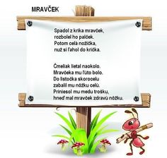 báseň Kids Poems, Ants, Montessori, Letter Board, Diy And Crafts, Jar, Teacher, Education, Creative